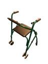 Andador aluminio plegable con asiento y respaldo