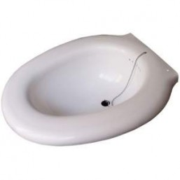 BIDET BLANCO PORTATIL CON TAPON FLEMING