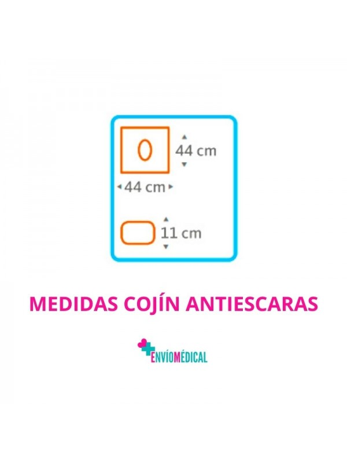 Cojín Antiescaras Tech Cuadrado
