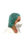 Gorro quirugico desechable verde quirofano (Bolsa 100 unds)