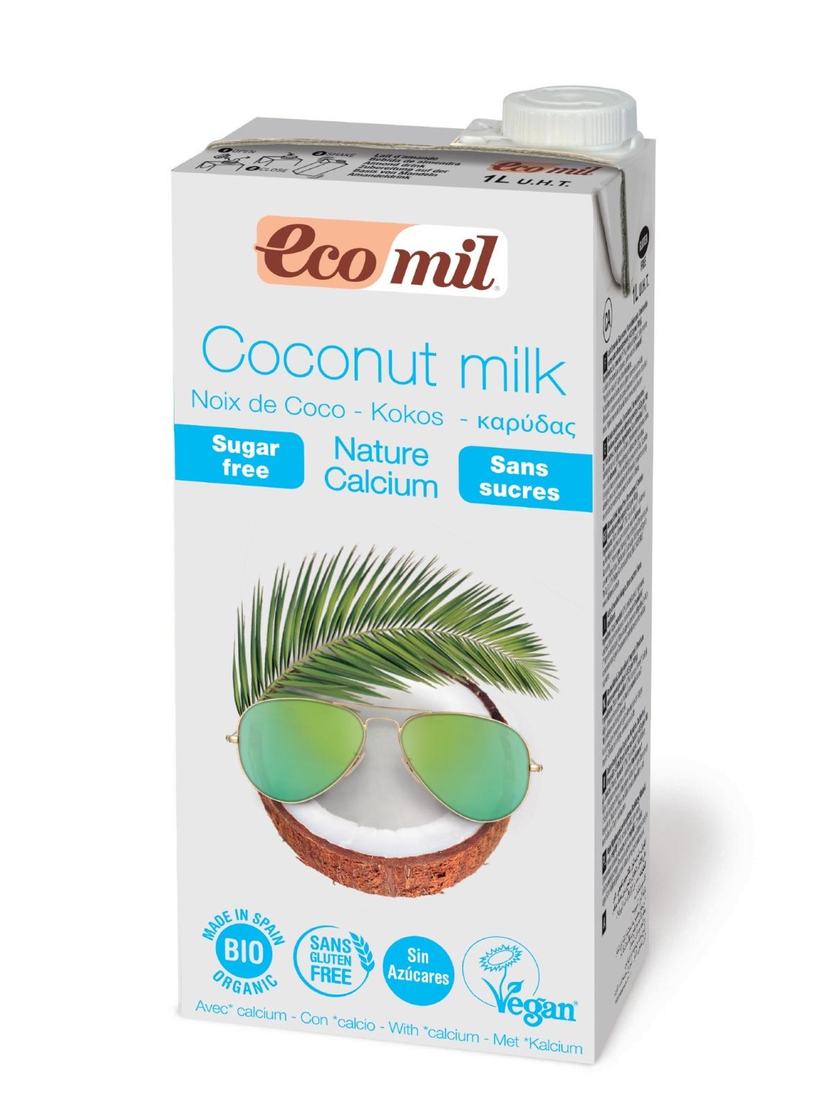 Tetra Brik de Leche de Coconut / Coco Nature Calcium Bio Ecomil 1 L.