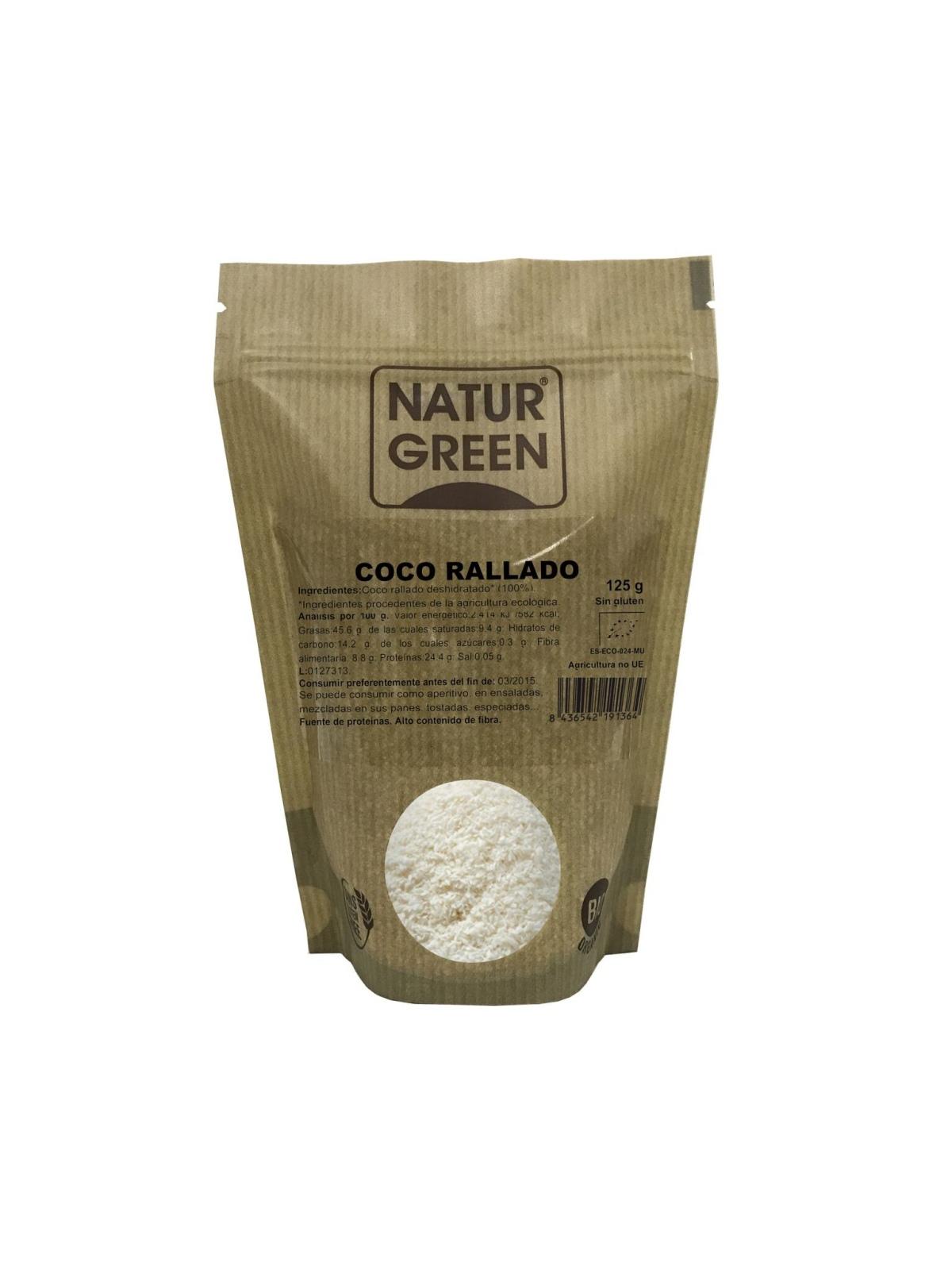Bolsa Doypack de Coco Rallado Bio Naturgreen 125 g