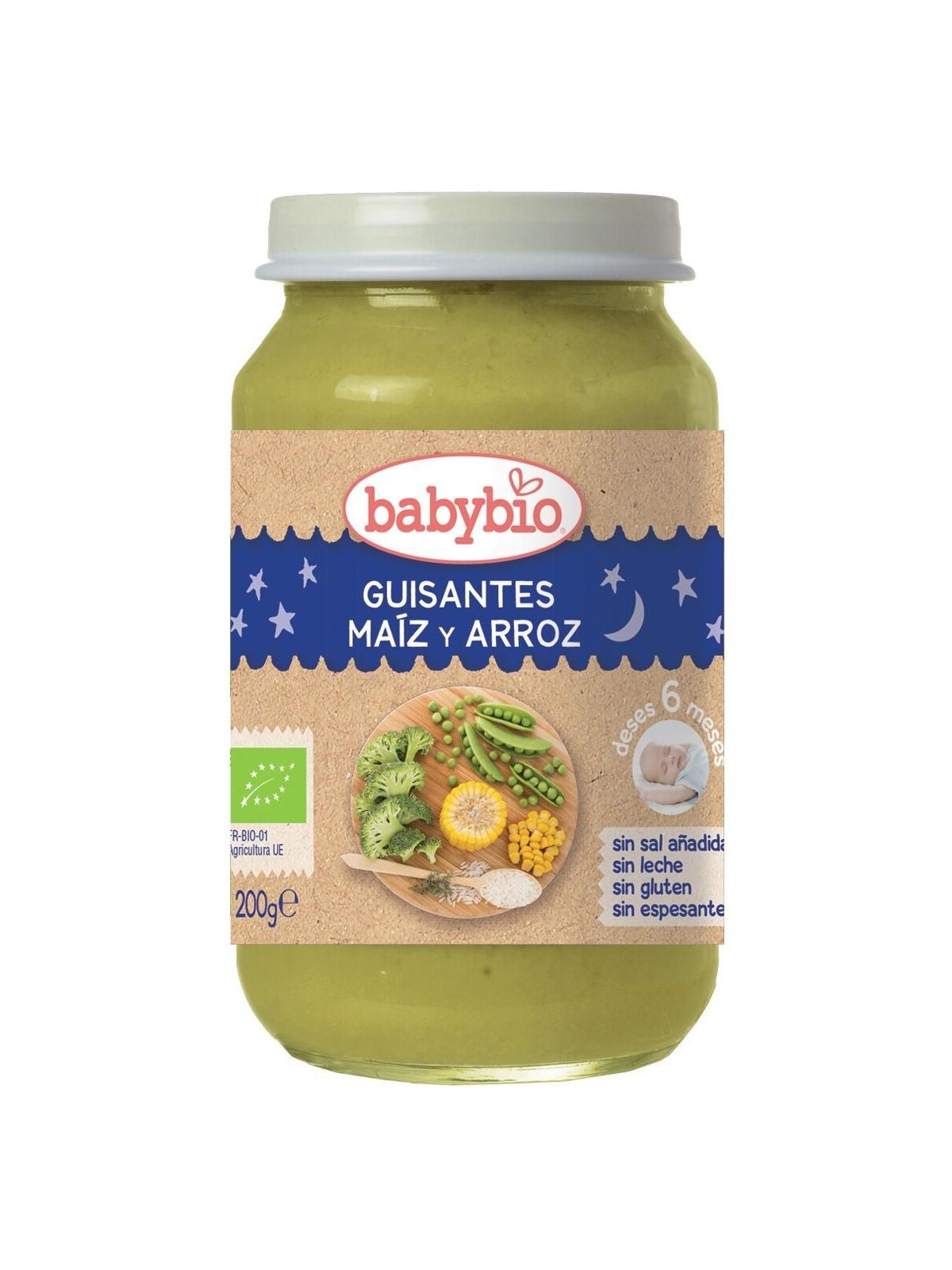 Babybio Buenas Noches Guisantes-Maiz-Arroz