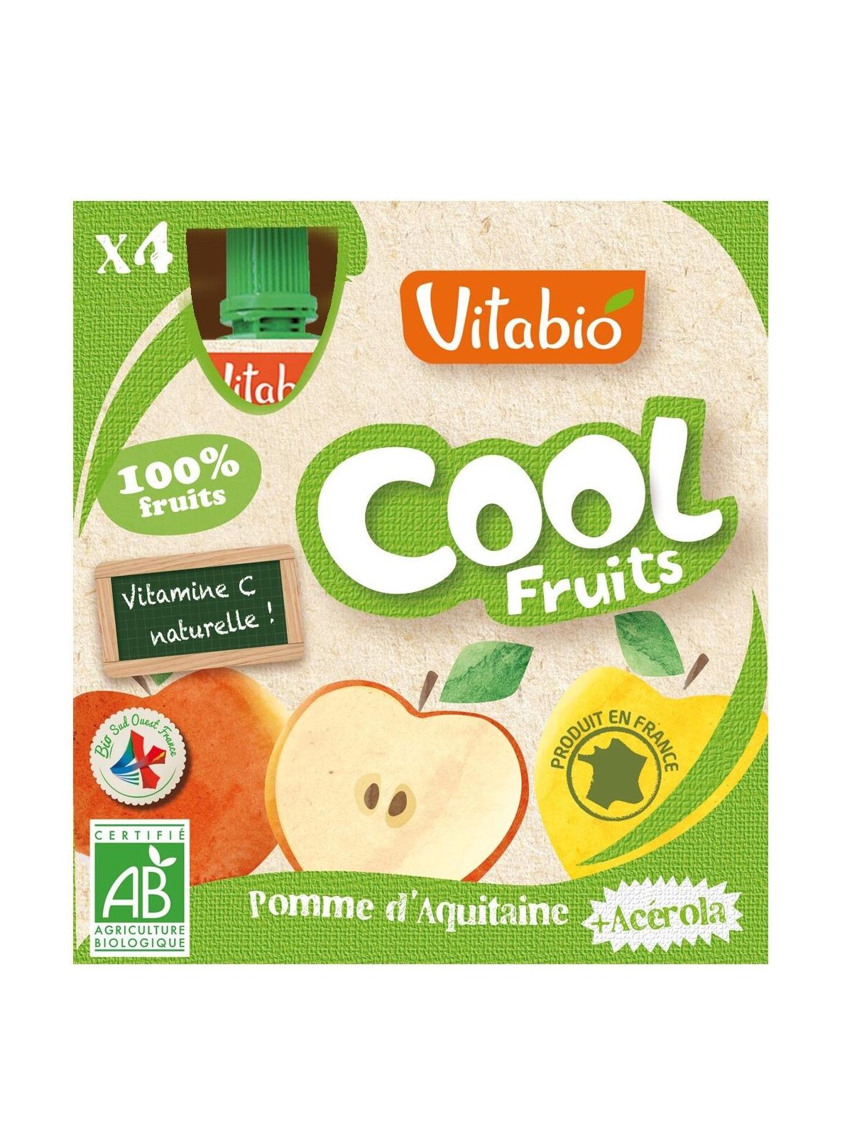Doypack de Cool Fruits Manzana Bio VitaBio 4 x 90 g
