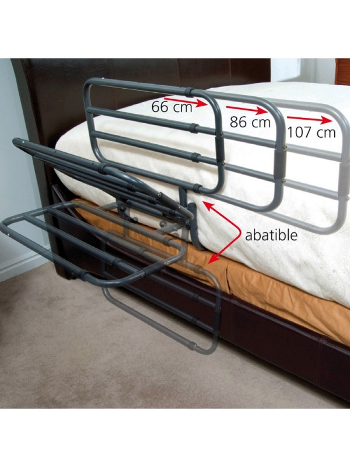 baranda para cama extensible