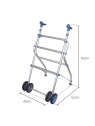 Andador de aluminio con ruedas medidas