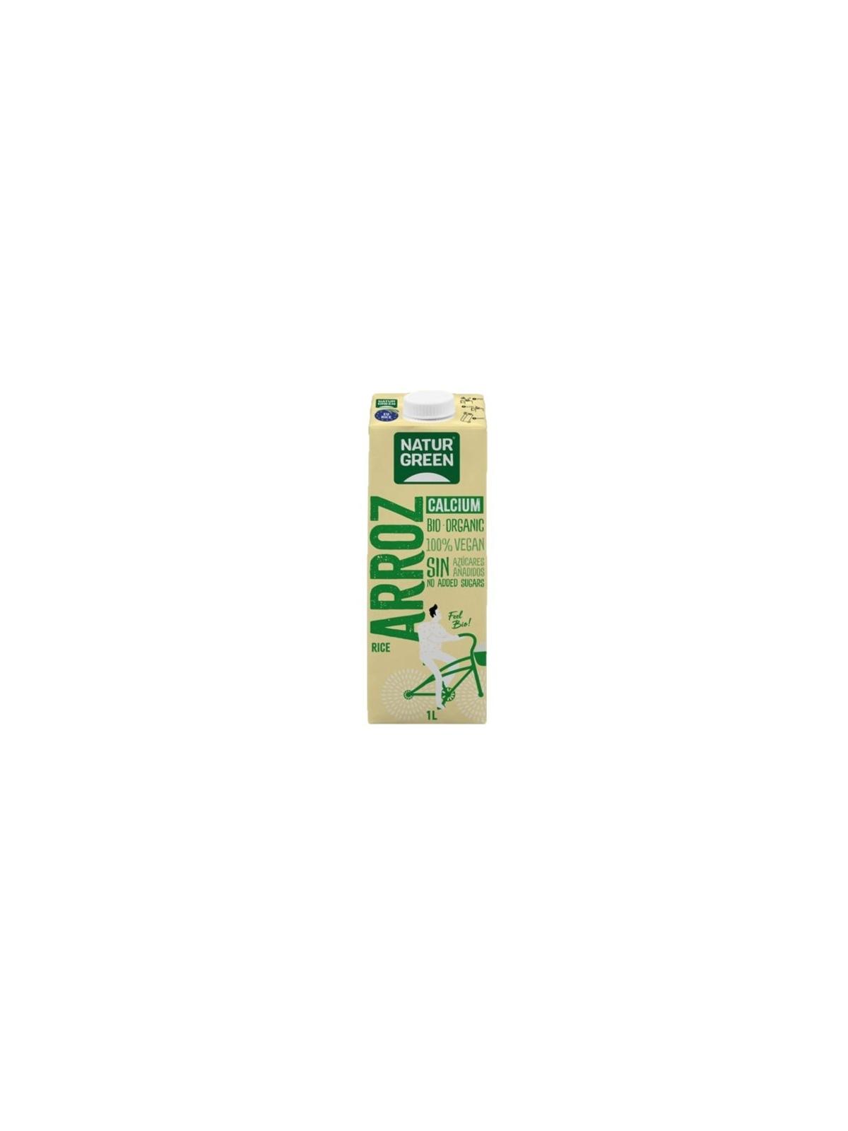 Envase de Bebida de arroz Calcium Bio Naturgreen 1l.